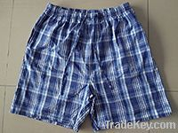 mens 100% cotton woven shorts