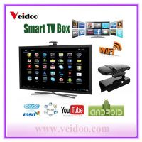 HD22 Smart TV Box Android 4.2  dual core Dual Mic for Skype video on TV