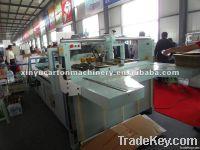corrugated cardboard gluing and folding machine