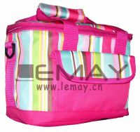 Polyester 600D red cooler bag