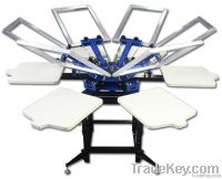 Double Rotary Manual 6-6 Color Screen Press