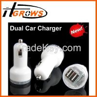 portable dual usb car charger