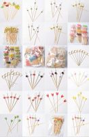 bamboo toothpicks, bamboo knotted picks