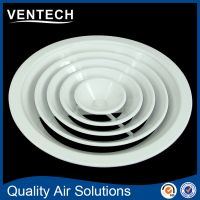 Round air conditioning diffuser