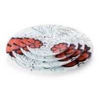 Decoupage glass platter