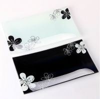 Decal Glass Tray Plate