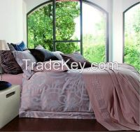 Twill jacquard style bamboo bedding sets luxury palace cotton comforter cover quilt cover bed linen wholesale
