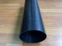 Red 3K Winding Twill/Plain weave Carbon Fiber Tube/pipe