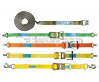 tie downs, lashing systems, webbing straps