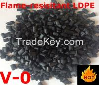 flame-resistant LDPE recycled granules for auto parts V-0