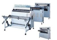 Full automatic knife paper pleating production line