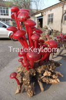 murano home hotel  combined Artistic glass mushroom Sculpture for garden public occasion