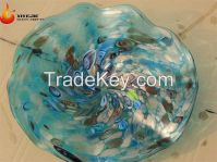 Murano Hand Blown Glass Decorative Plates for Wall Hanging  hotel hallway interior hall lobby living room villa top grade club WPL19