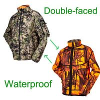 Red and Digital Camouflage Both Sides Swear Winter Hunting Camo Suits for Hunting