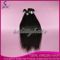 Seditty Hair Product Brazilian Virgin straight hair, 100%Unprocessed Virgin Hair extensions , human remy hair weft, hair weaving, cheap price