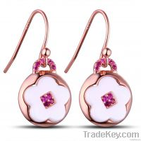 925 sterling silver with ceramic earring