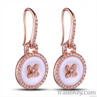 925 sterling silver with ceramic earrings