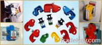 Miniature circuit breaker lockout devices