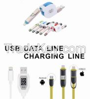 UD433 USB-Charger-Cable-LCD Display-data-lines-Short-Line-For-Apple-Iphone-6-6-plus