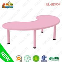 2013 New Arrival Plastic Moon Table with Metal Legs