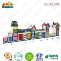HAIJILUN Child School furniture Toy Storage Luxurious Cabinet with boxes