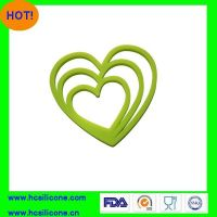 heart shape silicone heat-resistant mat