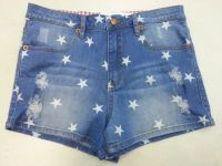 Girls allover stars printed hotpants