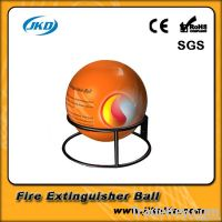 Automatic dry powder fire extinguisher ball