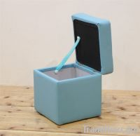 multifunctional modern two seat square stool with storage