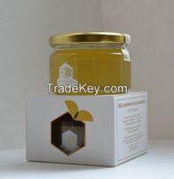 Organic lime, sainfoin, dandelion, spring flowers honey, collected in Baskortostan