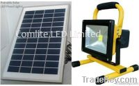 30w solar rechargeable LED flood light