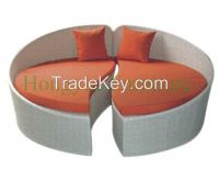 Outdoor Rattan Sofa Bed Furniture With Cushions