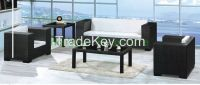 Outdoor rattan sofa set furniture designs