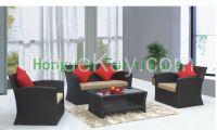 Outdoor rattan sofa set furniture supplier
