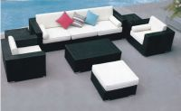 Wicker patio garden sofa set furniture supplier
