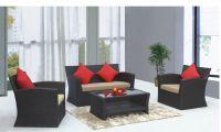 Outdoor rattan wicker garden sofa set furniture sale