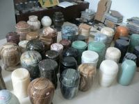 Funeral products-- Marble urns
