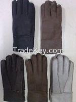 double faced sheepskin gloves /mittens