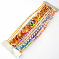 Rice Beaded Magnetic Clasp Handmade Bracelets
