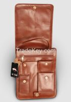 "Pure Leather Men's Messenger Handbag - Enough space to hold 14"" Laptop Plus"