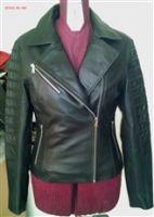 Pure women Leather Jacket black