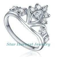 925 sterling silver ring with cz