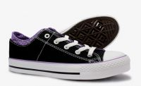 Low cut canvas shoes for girl