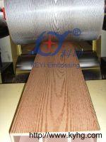 WPC PVC PE panel embossing machine wood plastic panel embossing machine