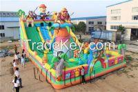 newest style custom inflatable slide combo, hunter slide for sale