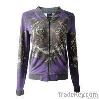 ladies'  Jacket (printed and heavy stone wash)