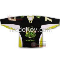 Black JJ ice hockey Jersey
