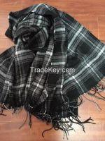 100% acrylic woven scarf