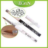 BQAN Crystal Rhinestone Metal Handle Art Design Pure Kolinsky Acrylic Brush by Asian Nail Supply
