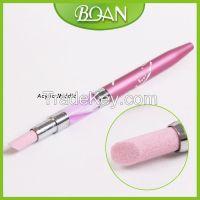 BQAN Pink Acrylic Metal Handle Art Sanding Nail Stone Pusher